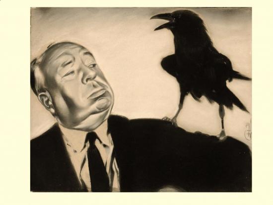 Alfred Hitchcock por GARY